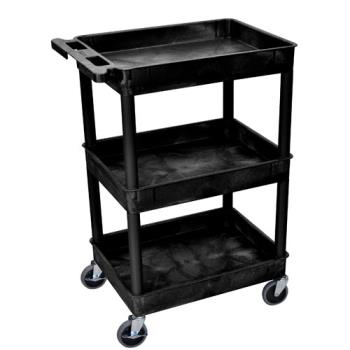 LUXSTC111B - Luxor - STC111-B - 24 in x 18 in Black Utility Cart Product Image