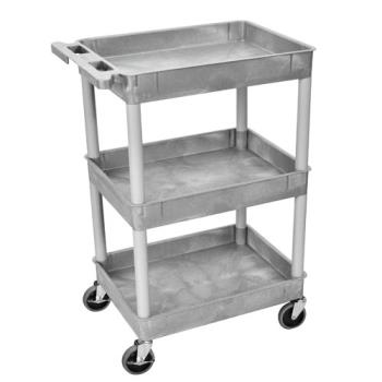 LUXSTC111G - Luxor - STC111-G - 24 in x 18 in Gray Utility Cart Product Image