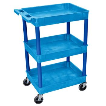 LUXSTC111BU - Luxor - STC111BU - 24 in x 18 in Blue Utility Cart Product Image