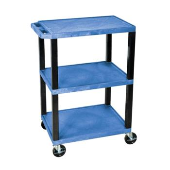 LUXWT34BUS - Luxor - WT34BUS - 24 in x 18 in Blue Utility Cart Product Image