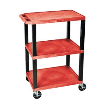 LUXWT34RS - Luxor - WT34RS - 24 in x 18 in Red Utility Cart Product Image