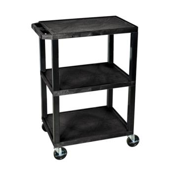 LUXWT34S - Luxor - WT34S - 24 in x 18 in Black Utility Cart Product Image