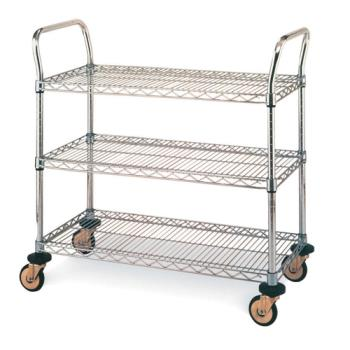 IMEMW705 - Metro/Intermetro - MW705 - 36 in x 18 in Chrome Wire Cart Product Image