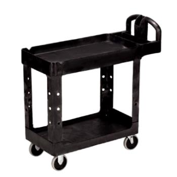 86320 - Rubbermaid - FG450088BLA - 39 in x 17 7/8 in 2-Tier Black Utility Cart Product Image