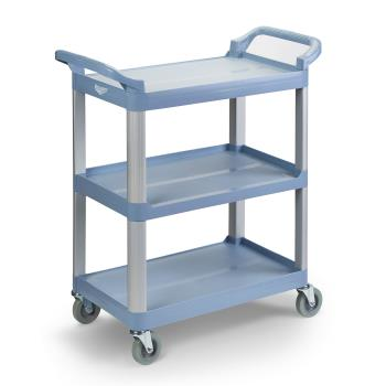 86339 - Vollrath - 97005 - 40 1/4 in x 19 7/8 in 3-Tier Gray Utility Cart Product Image