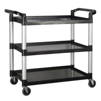 76706 - Winco - UC-3019K - 40 3/4 in x 19 1/2 in Black Utility Cart Product Image