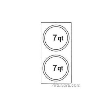 NEM66093 - Nemco - 66093 - Two 7 Qt. Countertop Warmer Inset Adapter Plates Product Image