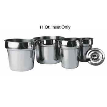 WININS110M - Winco - INS-11.0M - 11 qt Stainless Steel Inset Product Image