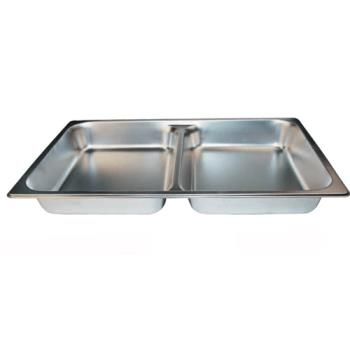 WINSPFD2 - Winco - SPFD2 - Full Size 2 1/2 in Deep Divided Steam Table Pan Product Image