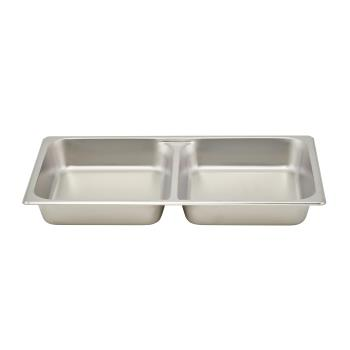 WINSPFD2 - Winco - SPFD2 - Full Size 2 1/2 in Divided Steam Table Pan Product Image
