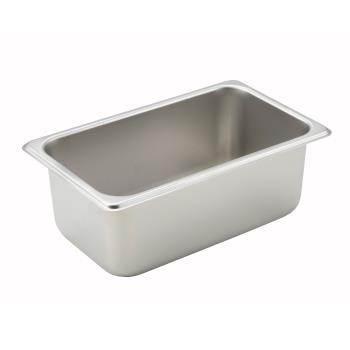 WINSPQ4 - Winco - SPQ4 - Quarter Size 4 in Deep Steam Table Pan Product Image