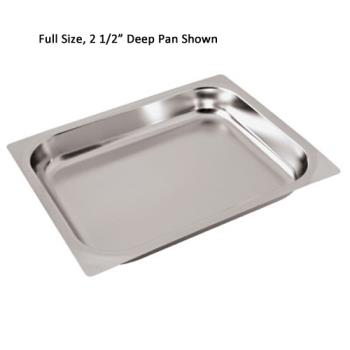 WOR1430506 - World Cuisine - 14305-06 - Half Size 2 1/2 in Deep Steam Table Pan Product Image