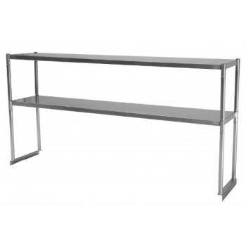 TURTSOS5 - Turbo Air - TSOS-5 - 60 in Stainless Steel Double Overshelf Product Image