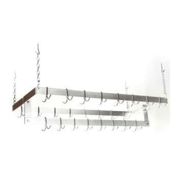 "51242 - Commercial - 48"" x 21"" Ceiling Mount Pot Rack Product Image"