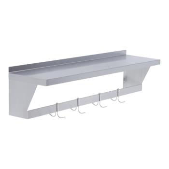 ELKSLWS72X - Elkay - SLW-S-72X - 12 x 72 in Wall Shelf With Pot Rack Product Image