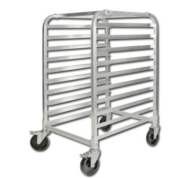 WINALRK10BK - Winco - ALRK-10BK - 10 Tier Aluminum Sheet Pan Rack With Brakes Product Image