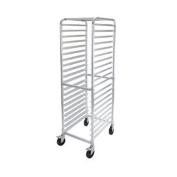 WINALRK20BK - Winco - ALRK-20BK - 20 Tier Aluminum Sheet Pan Rack With Brakes Product Image