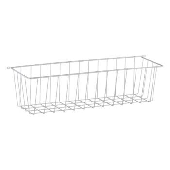 13330 - Commercial - 20 1/2 in x 5 1/2 in Silver Wire Storage Basket Product Image