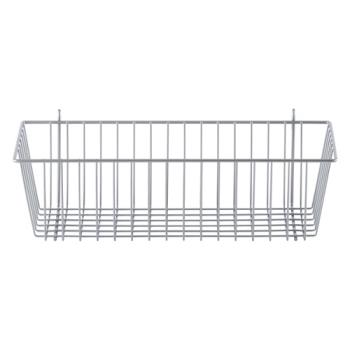 13328 - Metro/Intermetro - 17 3/8 in x 7 1/2 in Silver Wire Storage Basket Product Image