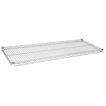 97130 - Focus Foodservice - FF1430C - 14 in x 30 in Chrome Plated Wire Shelf Product Image