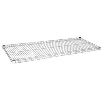 97142 - Focus Foodservice - FF1442C - 14 in x 42 in Chrome Plated Wire Shelf Product Image