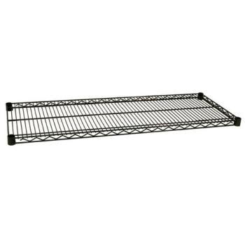 97442 - Focus Foodservice - FF1442G - 14 in x 42 in Green Epoxy Coated Wire Shelf Product Image