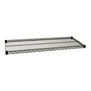 97548 - Focus Foodservice - FF1848G - 18 in x 48 in Green Epoxy Coated Wire Shelf Product Image