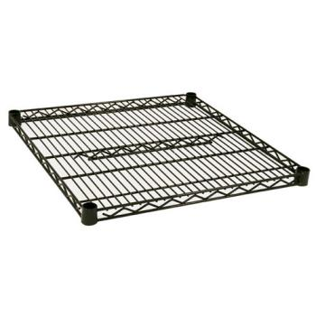 97724 - Focus Foodservice - FF2424G - 24 in x 24 in Green Epoxy Coated Wire Shelf Product Image