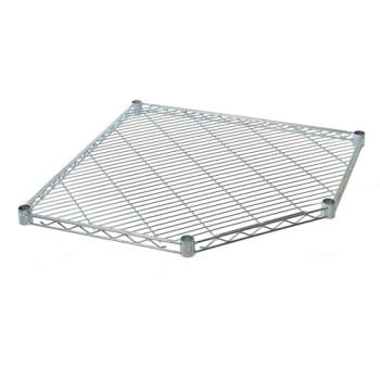 63371 - Focus Foodservice - FF24CG - 21 in Chrome Corner Shelf Product Image
