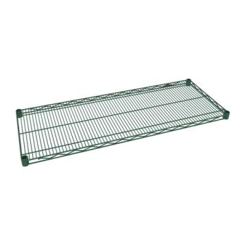 97424 - Olympic - J1424K - 14 in x 24 in Green Epoxy Coated Wire Shelf Product Image