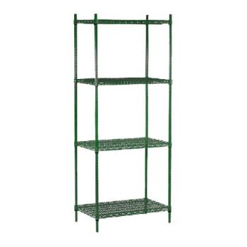 "98424 - Commercial - 14"" x 24"" 4 Shelf Epoxy Coated Shelving Unit Product Image"