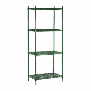 "98448 - Commercial - 14"" x 48"" 4 Shelf Epoxy Coated Shelving Unit Product Image"