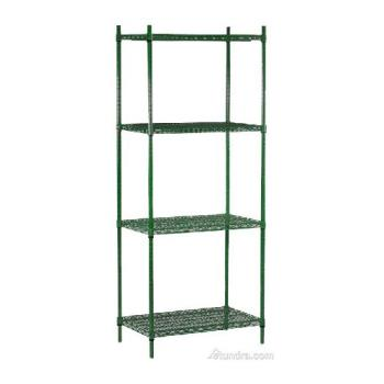 "98460 - Commercial - 14"" x 60"" 4 Shelf Epoxy Coated Shelving Unit Product Image"