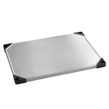 FCPFF2460SSS - Focus Foodservice - FF2460SSS - 24 in x 60 in Solid Stainless Steel Shelf Product Image