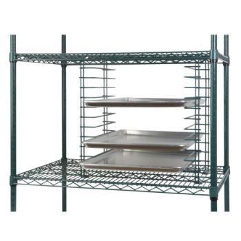 FCPFWTS12GN - Focus Foodservice - FWTS12GN - Green Wire Tray Slide Rack Product Image