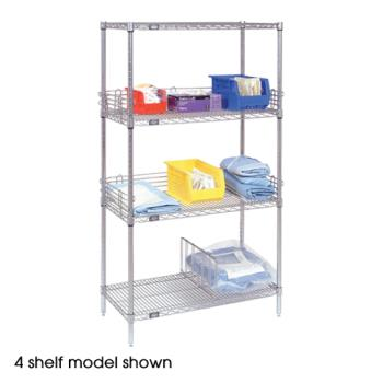 "NEX24307Z5 - Nexel Industries - 24307Z5 - Poly-Z-Brite™ 24"" x 30"" x 74"" Five Shelf Unit Product Image"