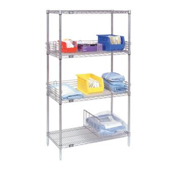 "NEX24727Z - Nexel Industries - 24727Z - Poly-Z-Brite™ 24"" x 72"" x 74"" Four Shelf Unit Product Image"