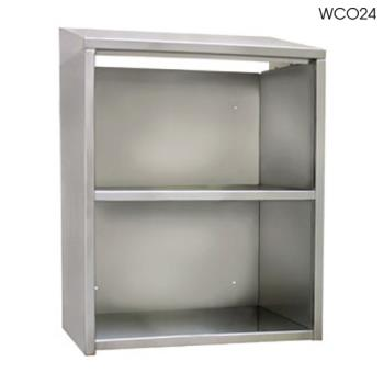"GLTWCO72 - Glastender - WCO72 - 72"" Open Front Wall Cabinet Product Image"