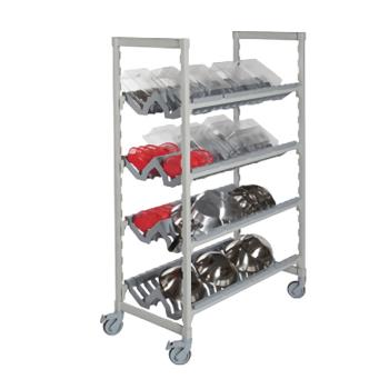 CAMCPMU244875PDPKG480 - Cambro - CPMU244875PDPKG - 24 in x 48 in Mobile Camshelving® Premium Angled Drying Rack Product Image