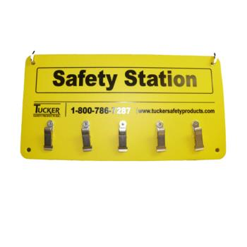 76371 - Tucker Safety - 99953 - Wall Mount 5-Clip Safety Station Product Image