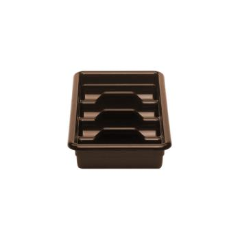 CAM1120CBR131 - Cambro - 1120CBR131 - 11 in x 20 in Brown Cambox® Cutlery Tub Product Image