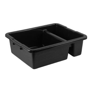 78556 - Tablecraft - 1547B - 22 in x 15 in Black Divided Bus Box Product Image
