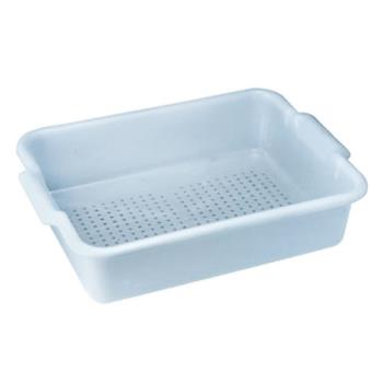 78677 - Winco - PLP-5G - 20 in x 15 in Gray Perforated Bus Tub Product Image