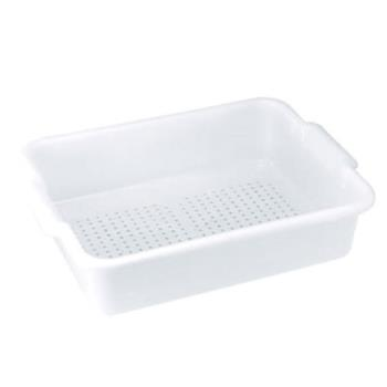 78678 - Winco - PLP-5W - 20 in x 15 in White Perforated Bus Tub Product Image