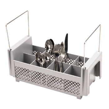67113 - Cambro - 8FB434151 - 8 Section Half Size Flatware Basket Product Image