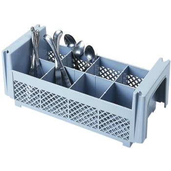 67122 - Cambro - 8FBNH434151 - 8 Section Half Size Camrack® Flatware Basket Product Image