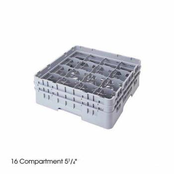 CAM16S738151 - Cambro - 16S738151 - 16 Compartment 7 3/4 in Camrack® Glass Rack Product Image