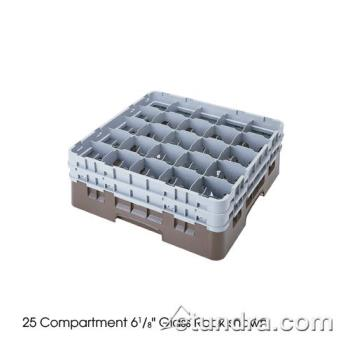 76498 - Cambro - 25S434151 - Camrack® 25 Section 5 1/4 in Glass Rack Product Image