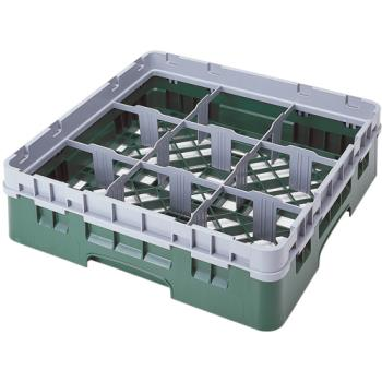 CAM9S318151 - Cambro - 9S318151 - Camrack® 9 Section 3 5/8 in Glass Rack Product Image