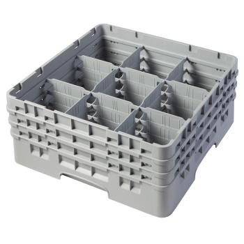CAM9S638151 - Cambro - 9S638151 - 9 Compartment 6 7/8 in Camrack® Glass Rack Product Image